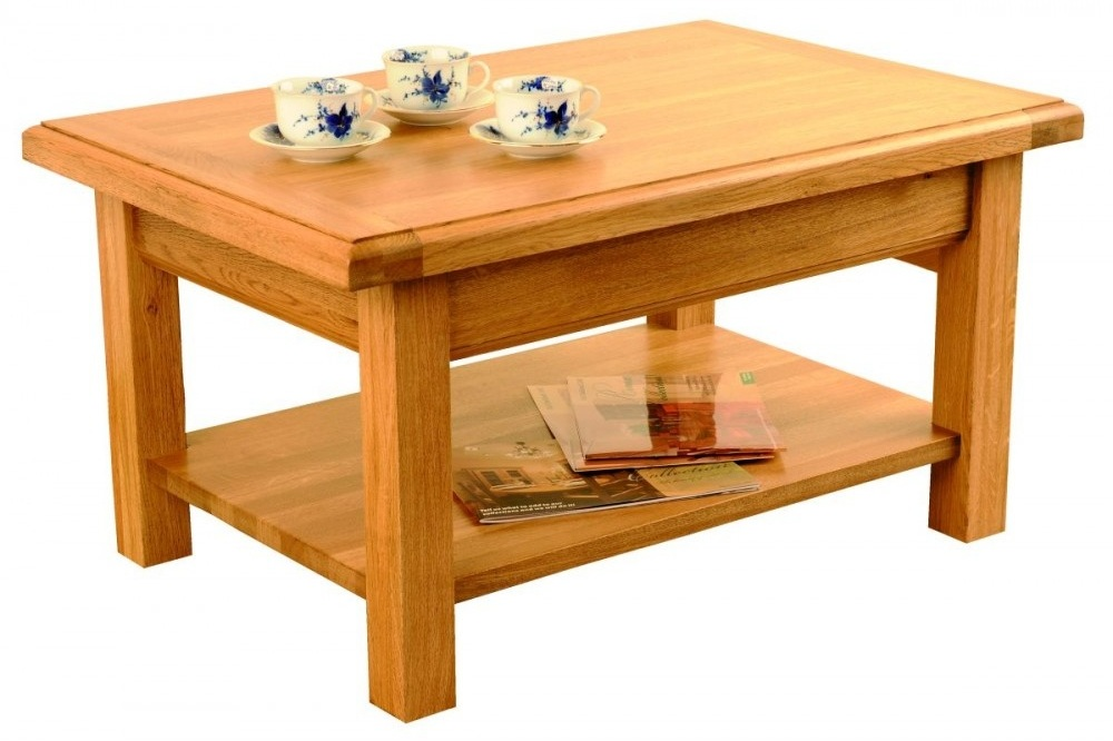 Manor Coffee Table with Shelf 512151