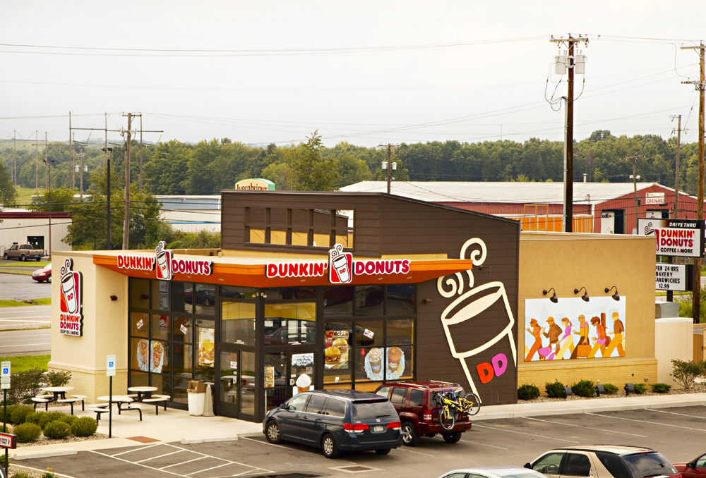 Recently developed Dunkin' Donuts site in Hubbard, Ohio.