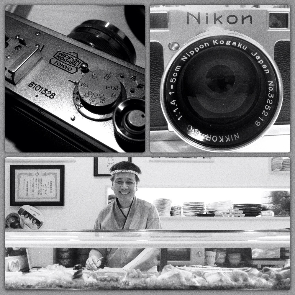 Sushi Chef and his proud Nikon cameras, at Kintaro in Köln, Germany by Joseph Linaschke