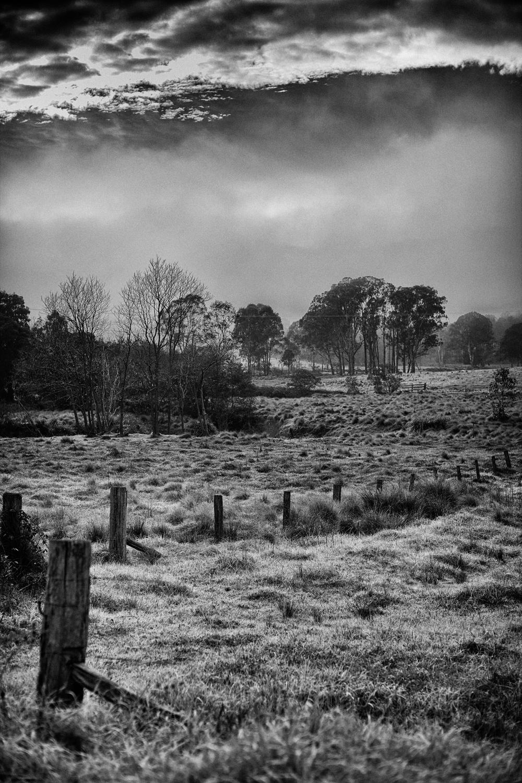 A frigid cold morning at Mulla Villa, Wollombi Valley, Australia