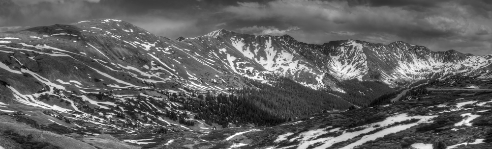 Quick look over the shoulder at Loveland Pass  by Dave Brown