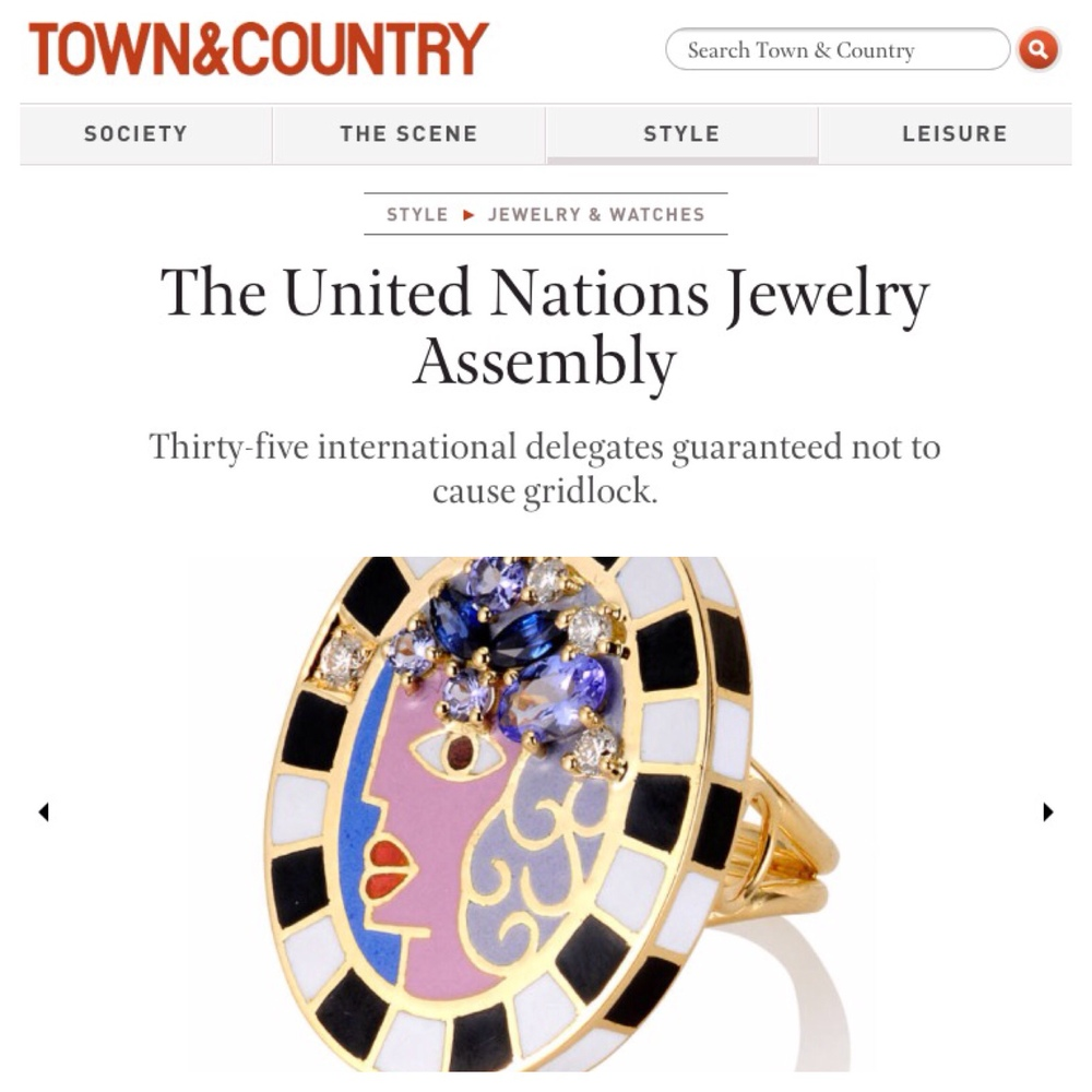 The United Nations Jewelry Assembly as the sole Canadian!