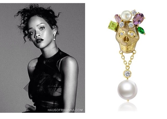 Rihanna elle december 2014 holly dyment fine jewelry for Fine jewelry trends 2018