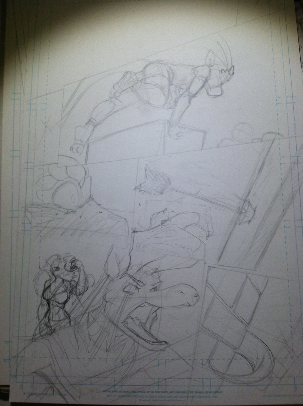 I apologize for the less-than-awesome iPhone photos, but I didn't want to give TOO much away with a clear scan. You'll just have to wait until it's finished!
