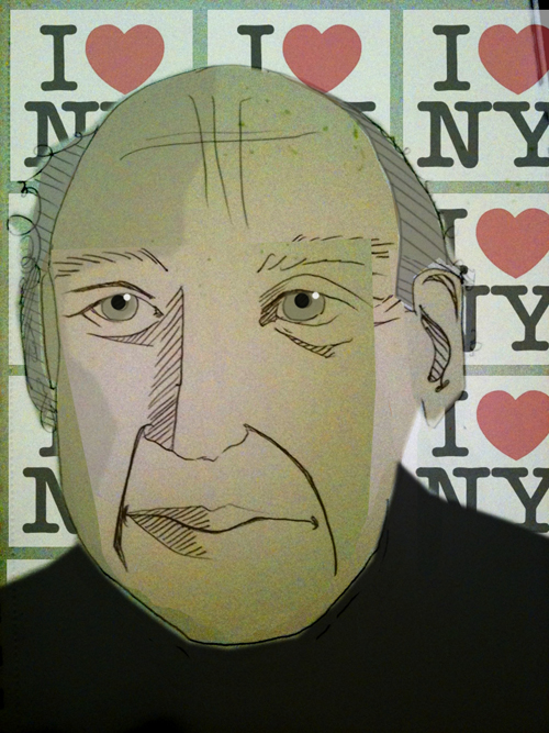 Milton Glaser illustration by  Margarita Korol .