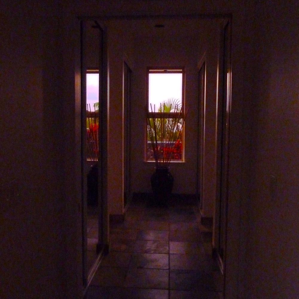 Hallway at sunset.