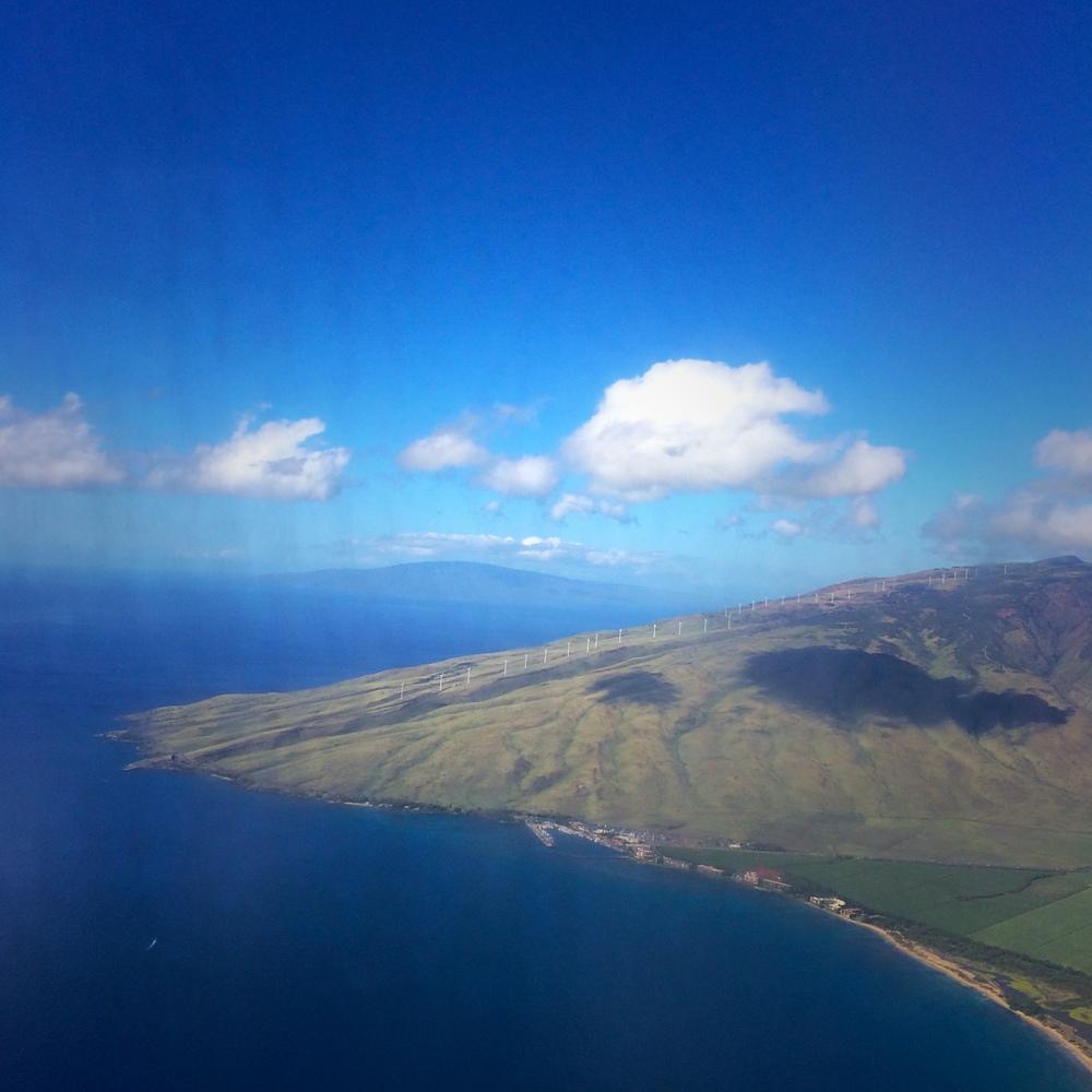 Approaching Kahului Airport, Maui.
