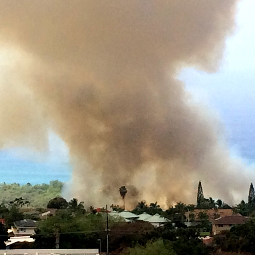 Brush fire in Kailua-Kona, March 2, 2016.