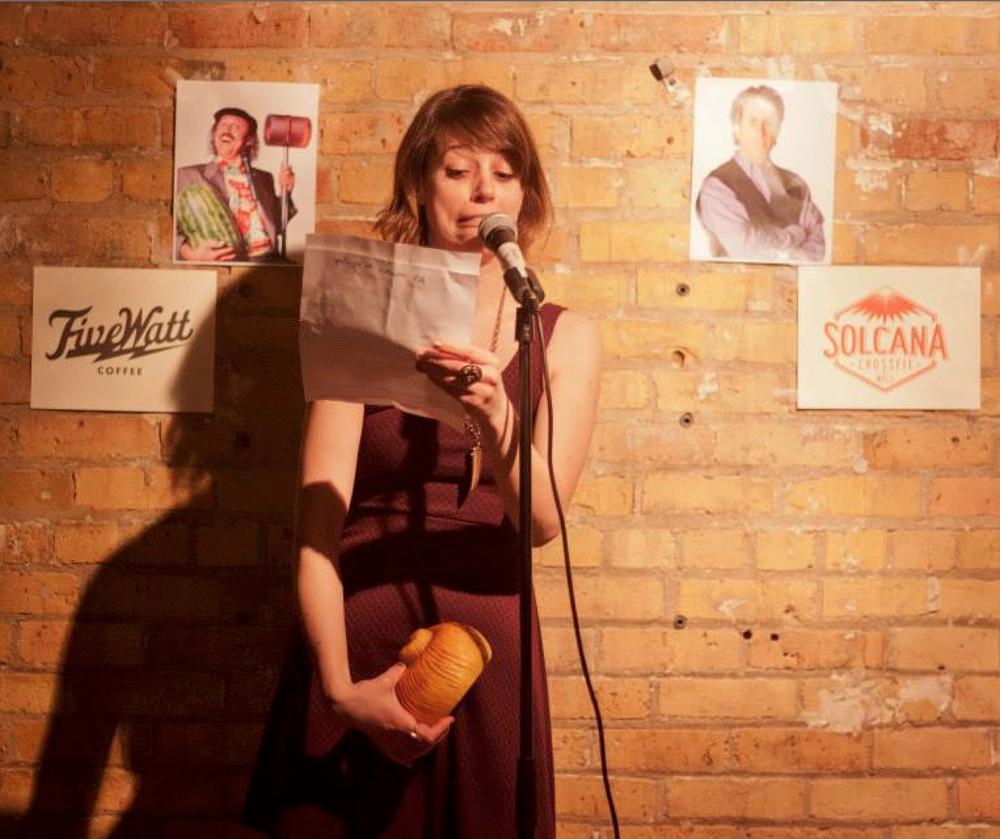Smith incorporating a delightful gag into her acceptance speech. Photo courtesy of Regan Smith.