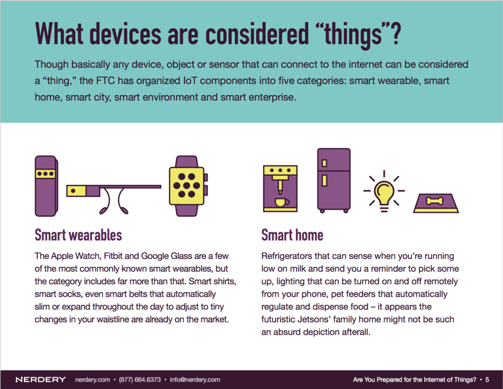 Internal page of the IoT eBook.