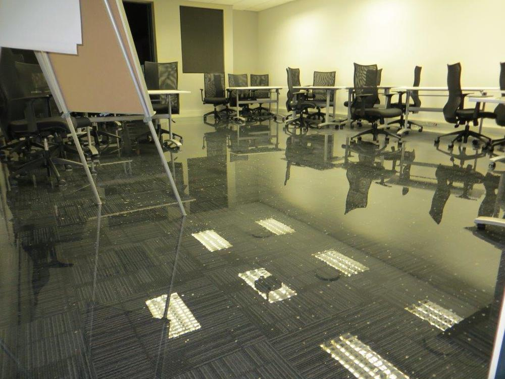 The training center was under 3 feet of water