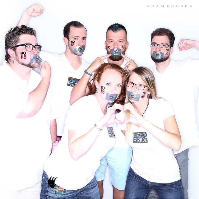 NOVA Pride Board - NOH8 Photo 2015  Top (L-R): Kyle Rohen, Brian Reach, Johnny Ahern, Natan Press  Bottom (L-R): Jess Press, Marina Deede