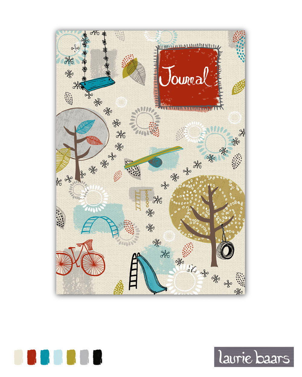 A Day in the Park journal cover by Laurie Baars
