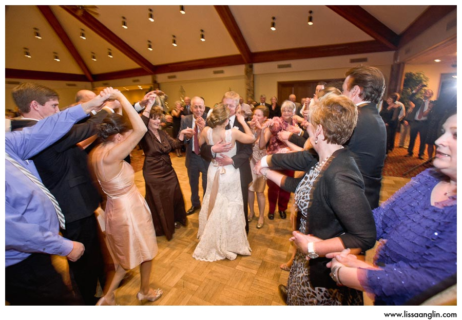 Beth Anne's grandparents led a traditional Grand March that ended in their first dance to kick off the reception. Everyone loved it!