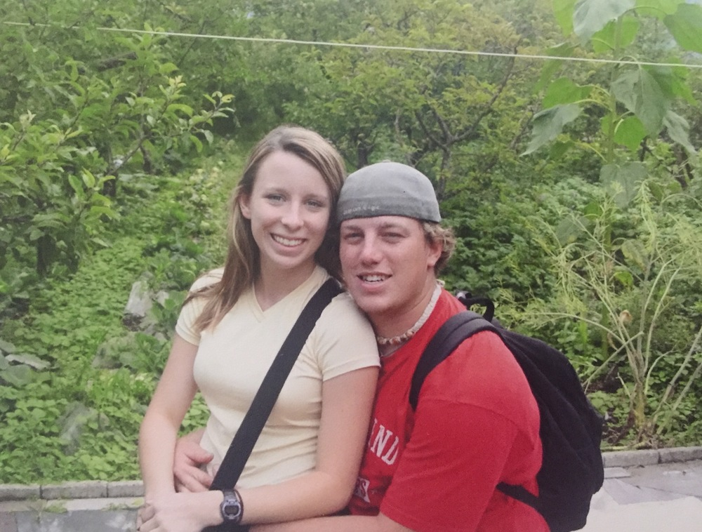 shawn and I, circa 2001 on our second trip to china. we had been dating for a year. such babies!