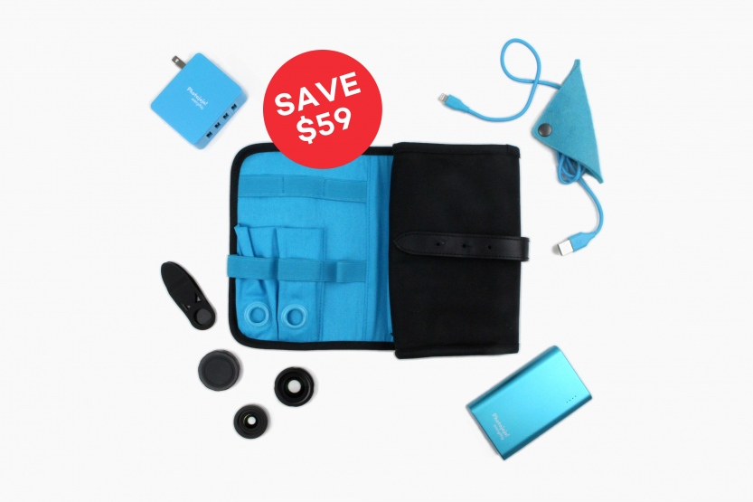 iPhone Accessories Kit just $58- includes 2 lenses and a charger!