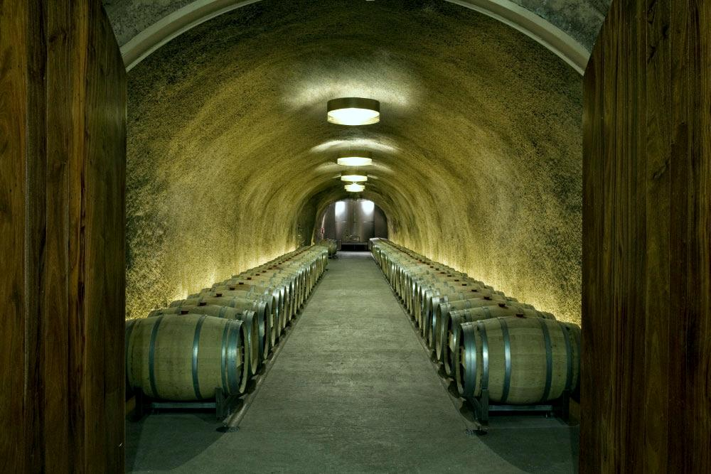 The cellar at Merus Estate.