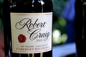 Robert Craig's Mt Veeder Cab Sauv.