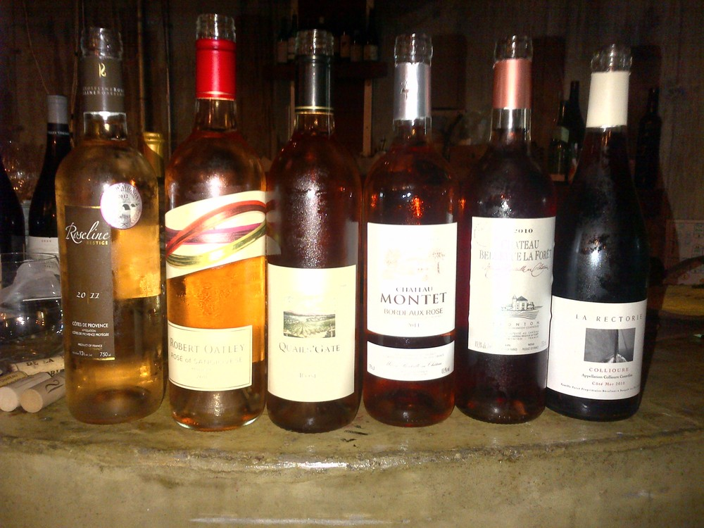 Rosé focus group the night before. Representation from Loire, Bordeaux, Tavel, Italy and BC.