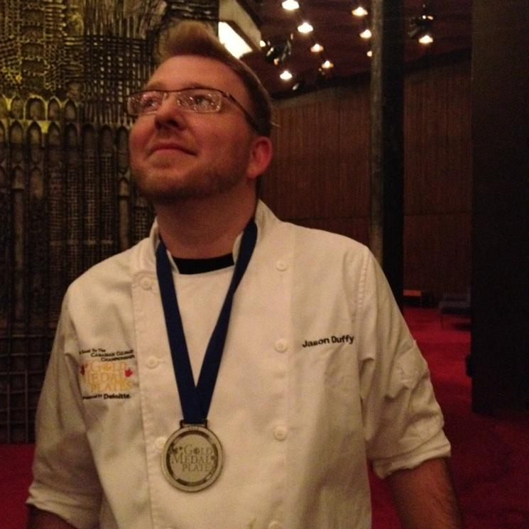 Chef Duffy reveling in his Silver medal!