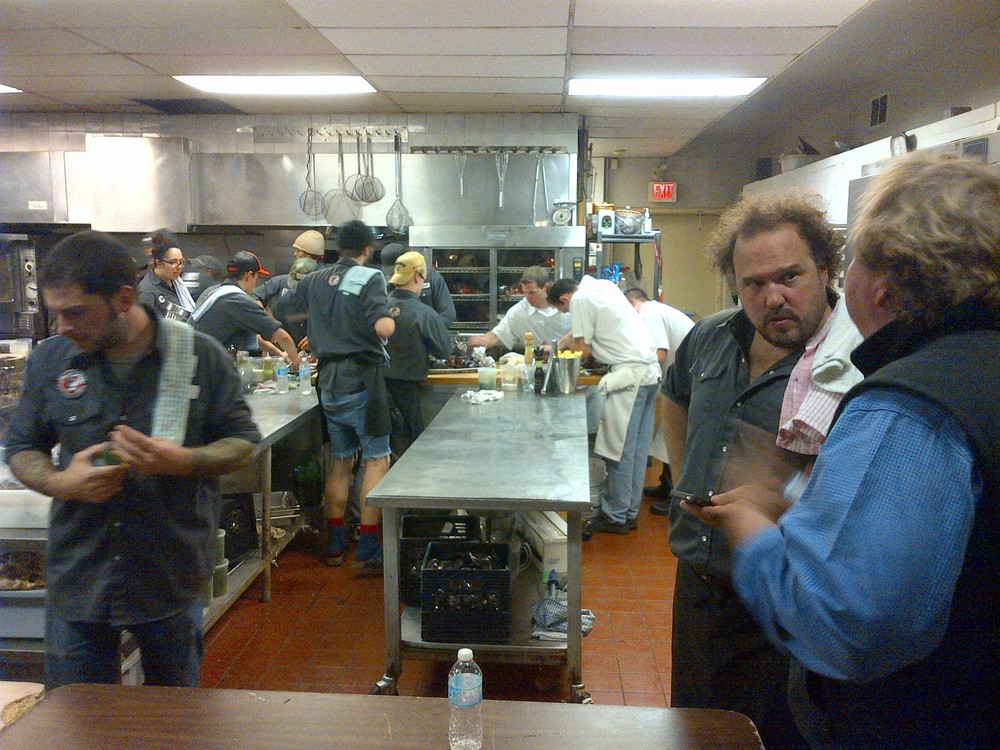 Hangin in the kitchen with Martin Picard and Norm Hardie