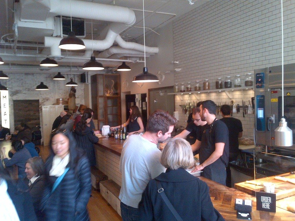 The bustling vibe at Meat and Bread