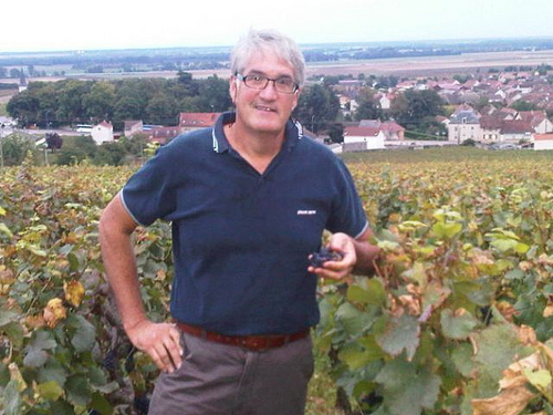 Thomas in the vineyard in Beaune, Burgundy.
