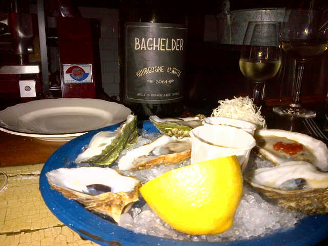 How to eat oysters @JoeBeef: with a magnum of Aligote from Puligny-Montrachet #NBD