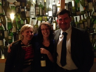 Catherine Mellot, Play's Wine Director Kerri Smith, and Olivier Rivain.