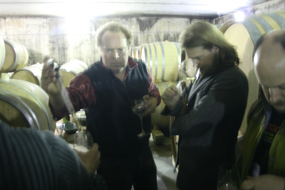 Barrel tasting before the lunch gets started.