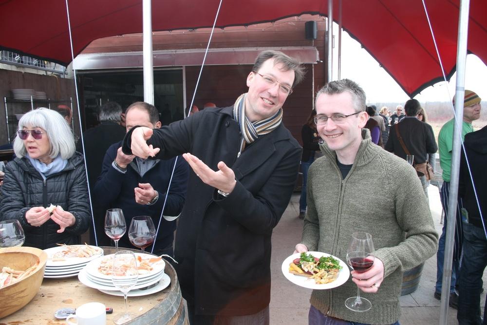 Ottawa's Stephen Beckta and Mark Lepine love crab legs!