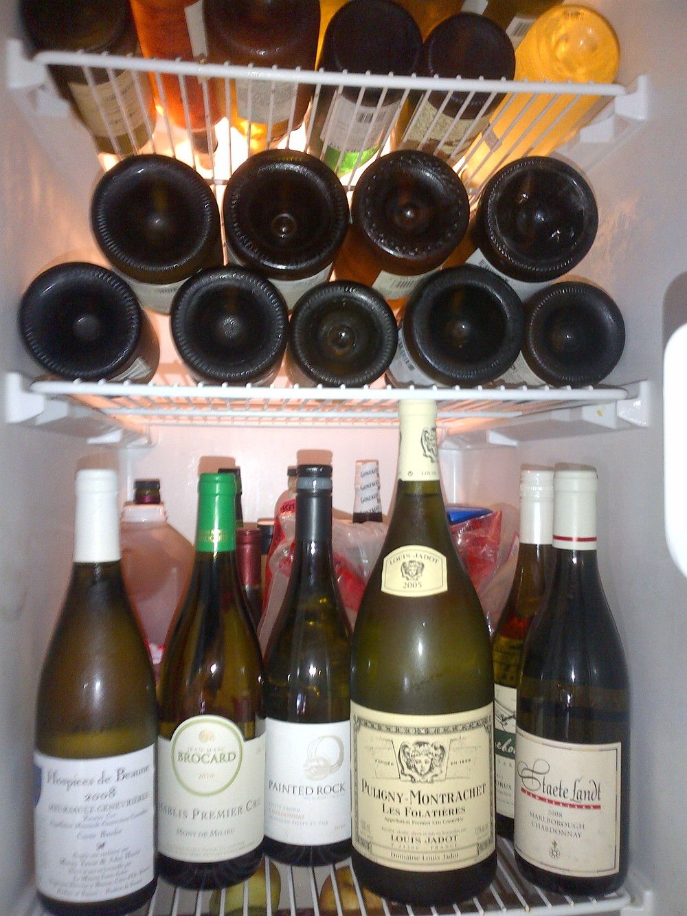 Chardonnay-stocked fridge for the afterparty...