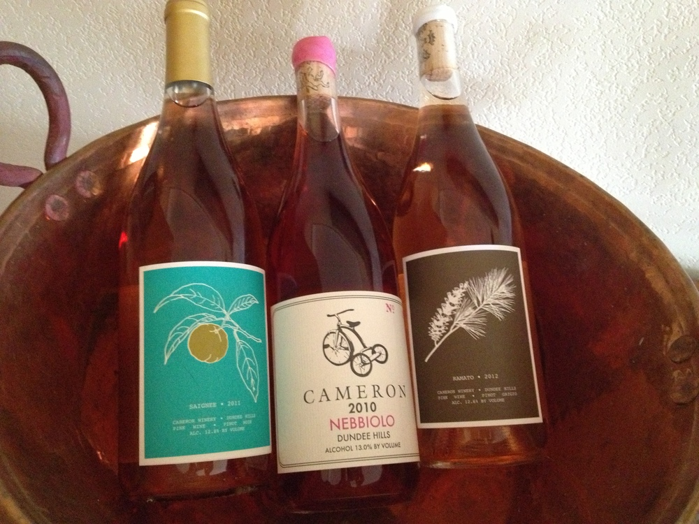 A lineup of Cameron pink wines.