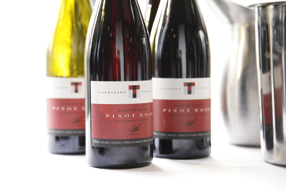 The Tawse Pinot Noirs...shone down on appropriately by the heavens.