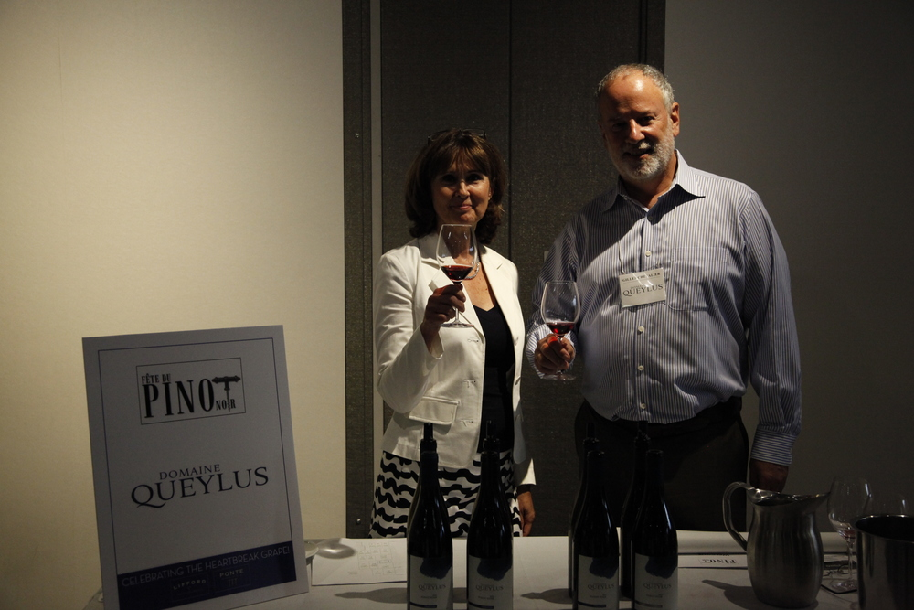 Domaine Queylus proprietor Gilles Chevalier and his wife Marie. If you haven't heard of Queylus yet, don't worry you will...A new very premium Niagara Pinot Noir vineyard, winemaking by Thomas Bachelder.