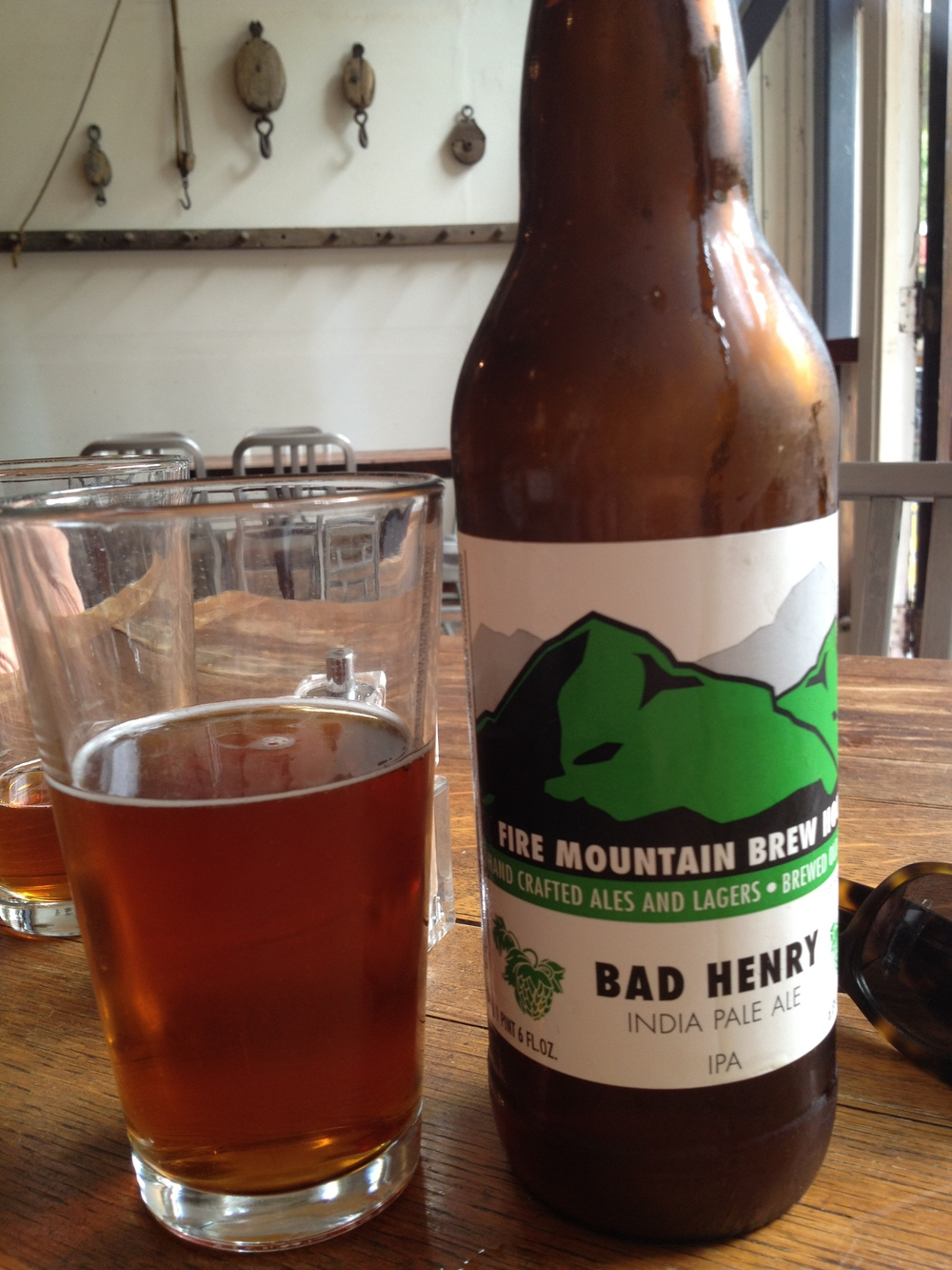 Best beer of the trip: Bad Henry IPA by Fire Mountain Brewery in Carlton, Oregon