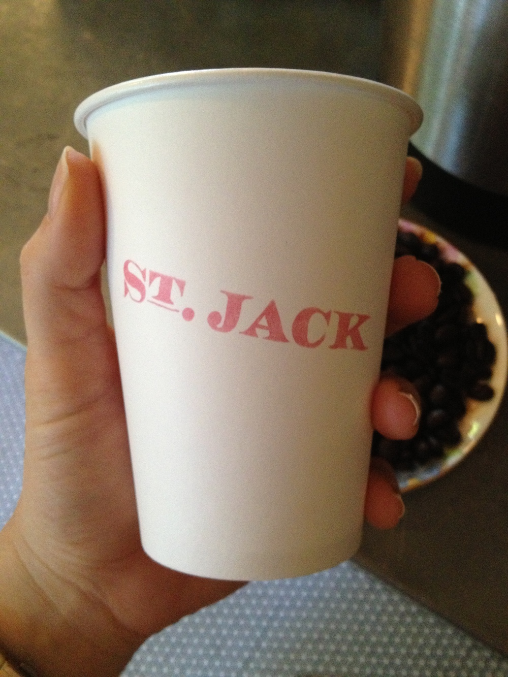 Great coffee at Patisserie St. Jack.