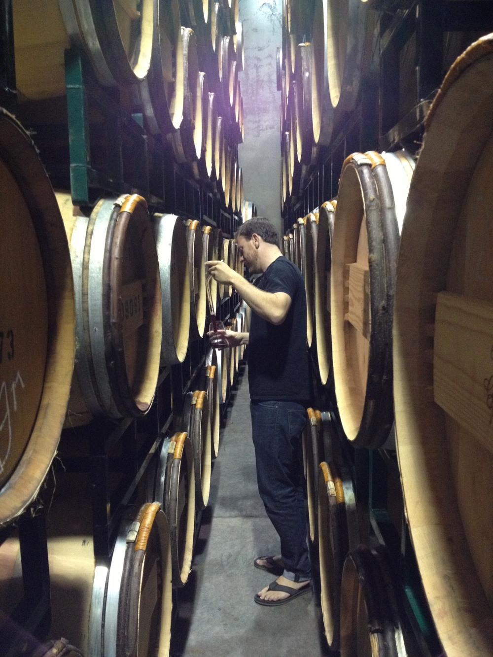 K Syrah barrel tasting with Andrew Latta