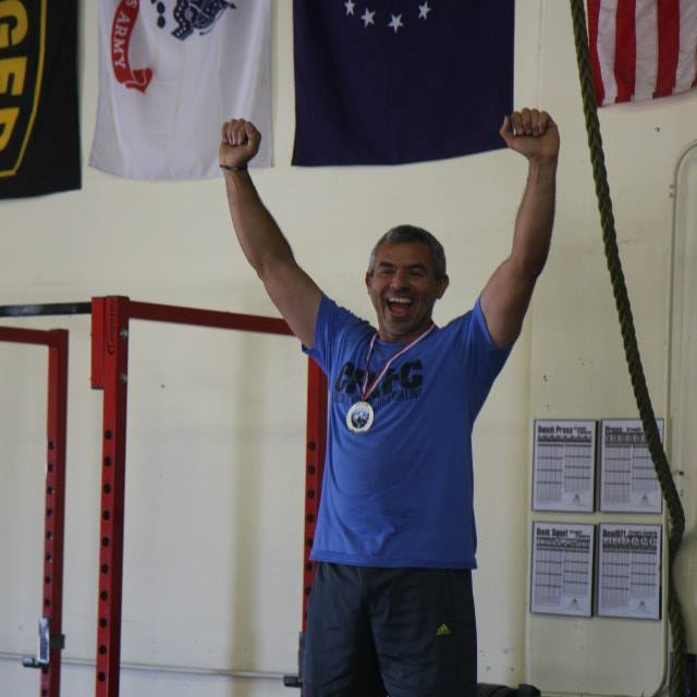 Rene celebrating his 2nd Place finish at our internal comp!