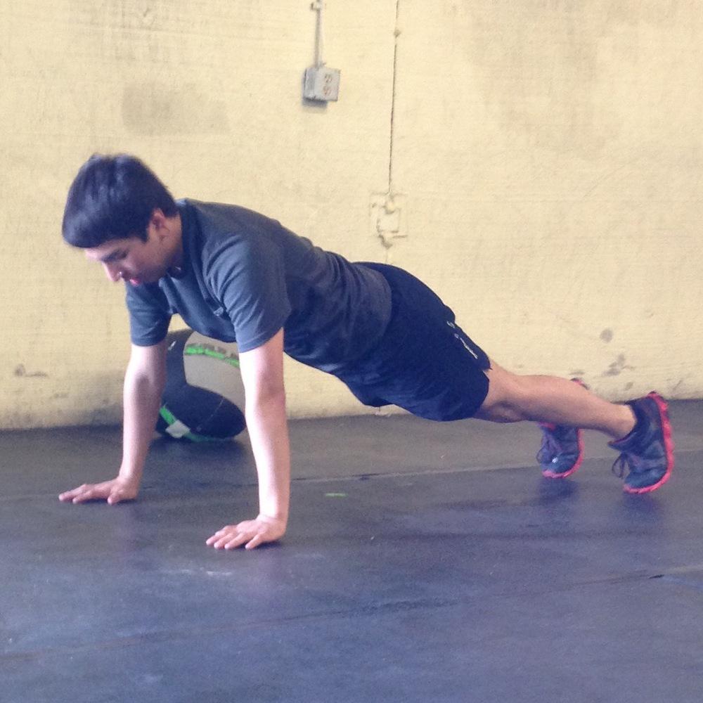 Alex with excellent squat thrust form!