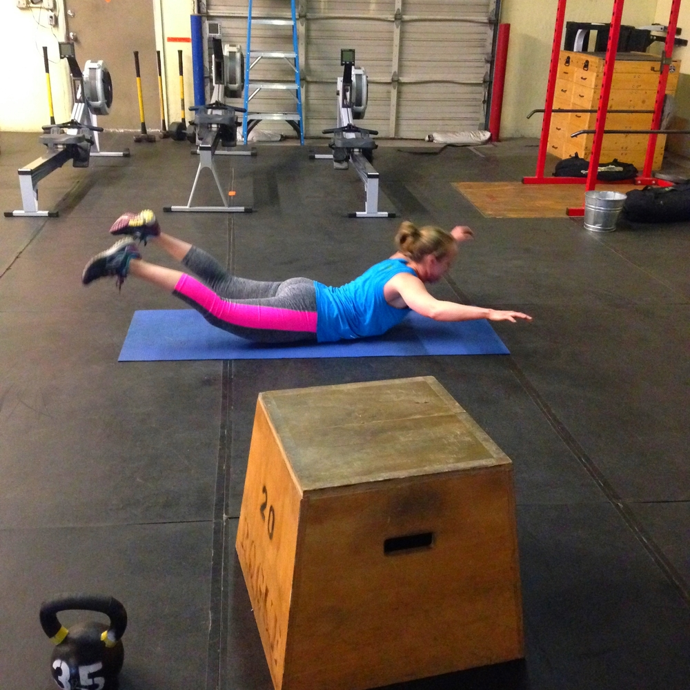 a82da94e8960e3 50 each of  (can be scaled to 30 each) Box jump M 24 F 20. Jumping  pull-ups. Kettlebell swings M 55 F 35. Walking lunges. Knees to elbows