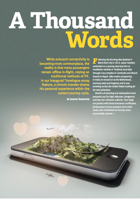 Airline Passenger Experience Magazine :  A Thousand Words  (  backup  )