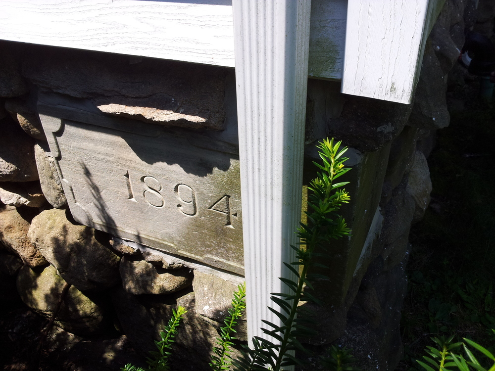 Cornerstone of Albertson Memorial Church, originally home of the Old Greenwich Presbyterian congregation.