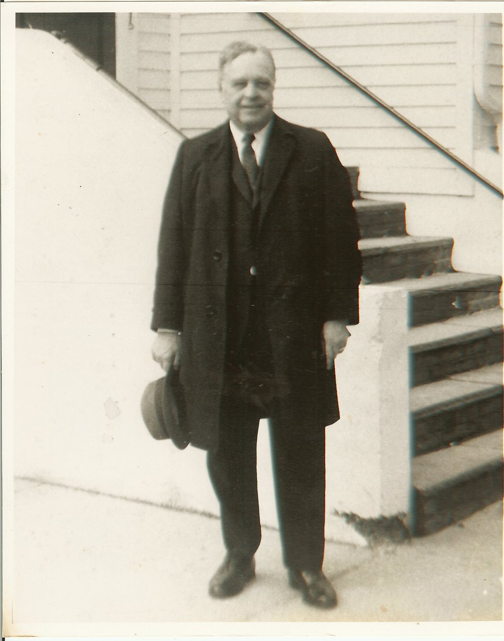 Rev. Ray Burns, pictured at the front of Albertson Memorial Church, circa 1970.