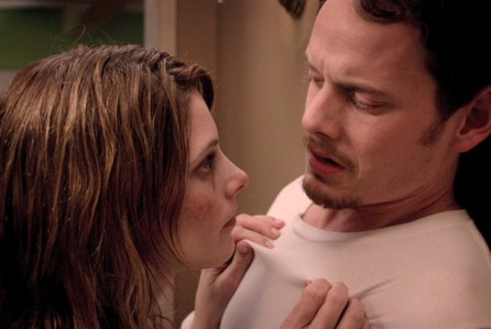 EVELYN (Ashley Greene) confronts ZAK (Anton Yelchin)