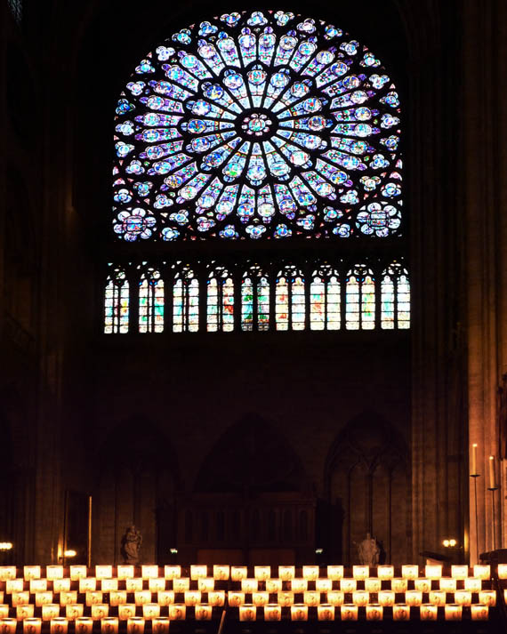 Rose window inside the Cathedral