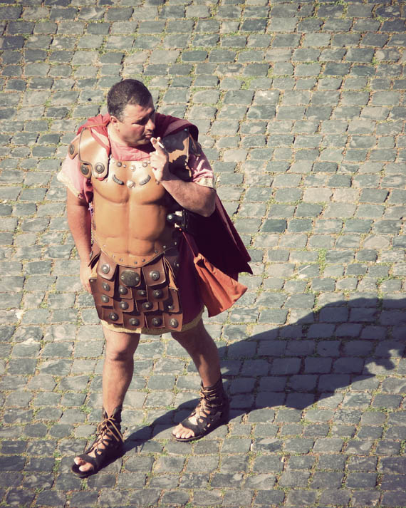 "A tourist-loving Roman ""gladiator"" takes a much needed break"