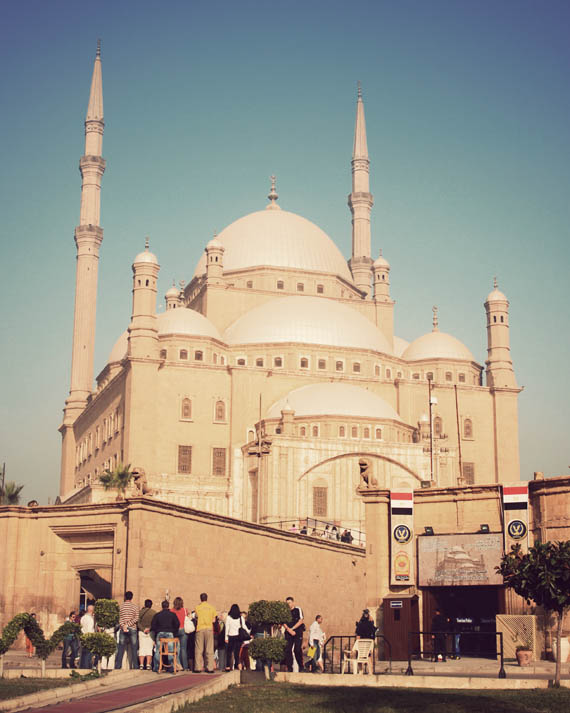 The Citadel walls surrounding the towering Muhammad Ali Mosque
