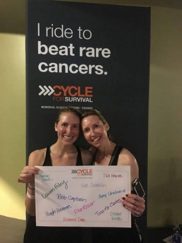 My sister and I - Cycle for Survival 2016
