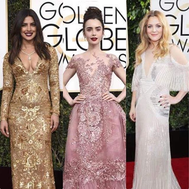 Our favorite looks from the 2017 @goldenglobes. ✨✨✨ #goldenglobes #goldenglobes2017 #redcarpetmakeup #redcarpethair